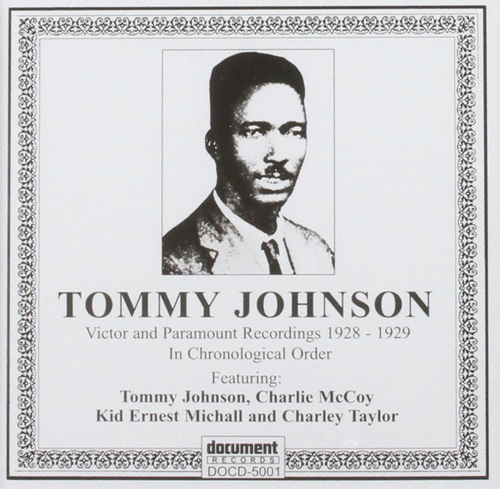 CD cover, Tommy Johnson Complete Recordings, on Document Records