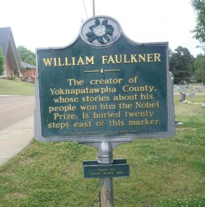 Mississippi Department of Archives & History marker for William Faulkner is located 20 paces from William Faulkner's grave in Oxford, Mississippi.