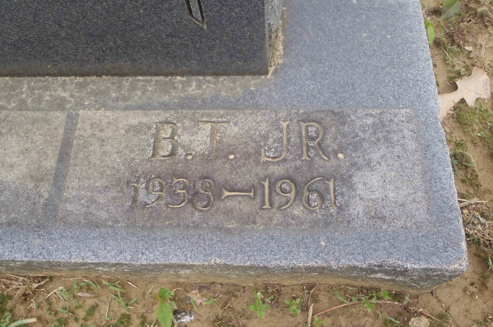 Inscription on Booker T. Little grave, New Park Cemetery, Memphis, Tennessee,
