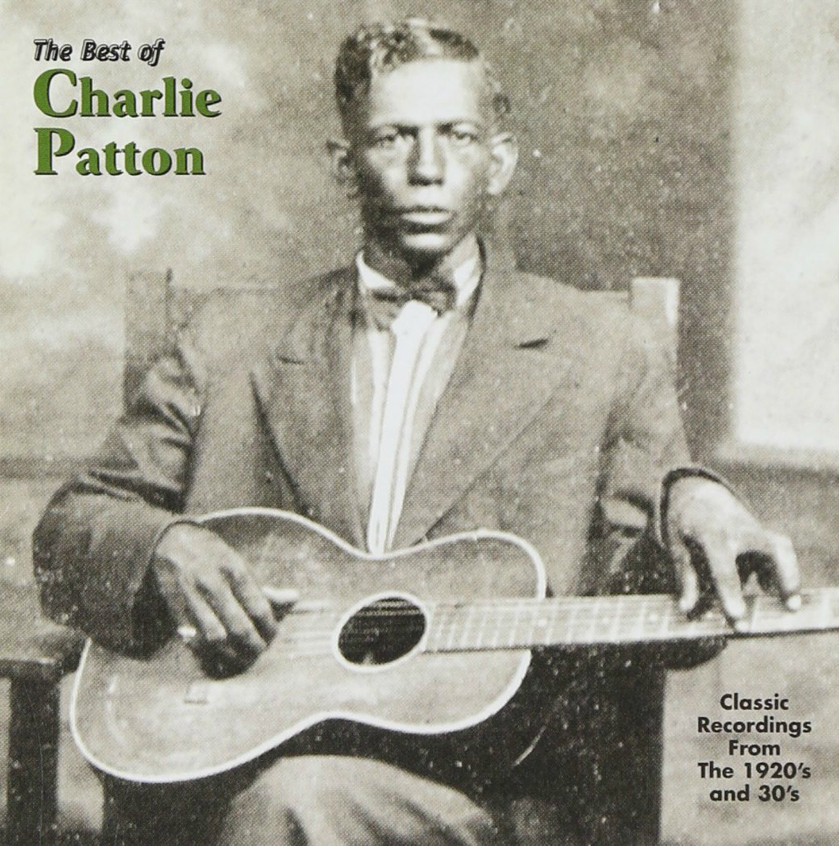 CD cover, The Best of Charlie patton, released on Yazoo Records