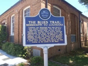 Mississippi Blues Trail marker, The Blues Trail: Mississippi To Louisiana, Ferriday, Louisiana