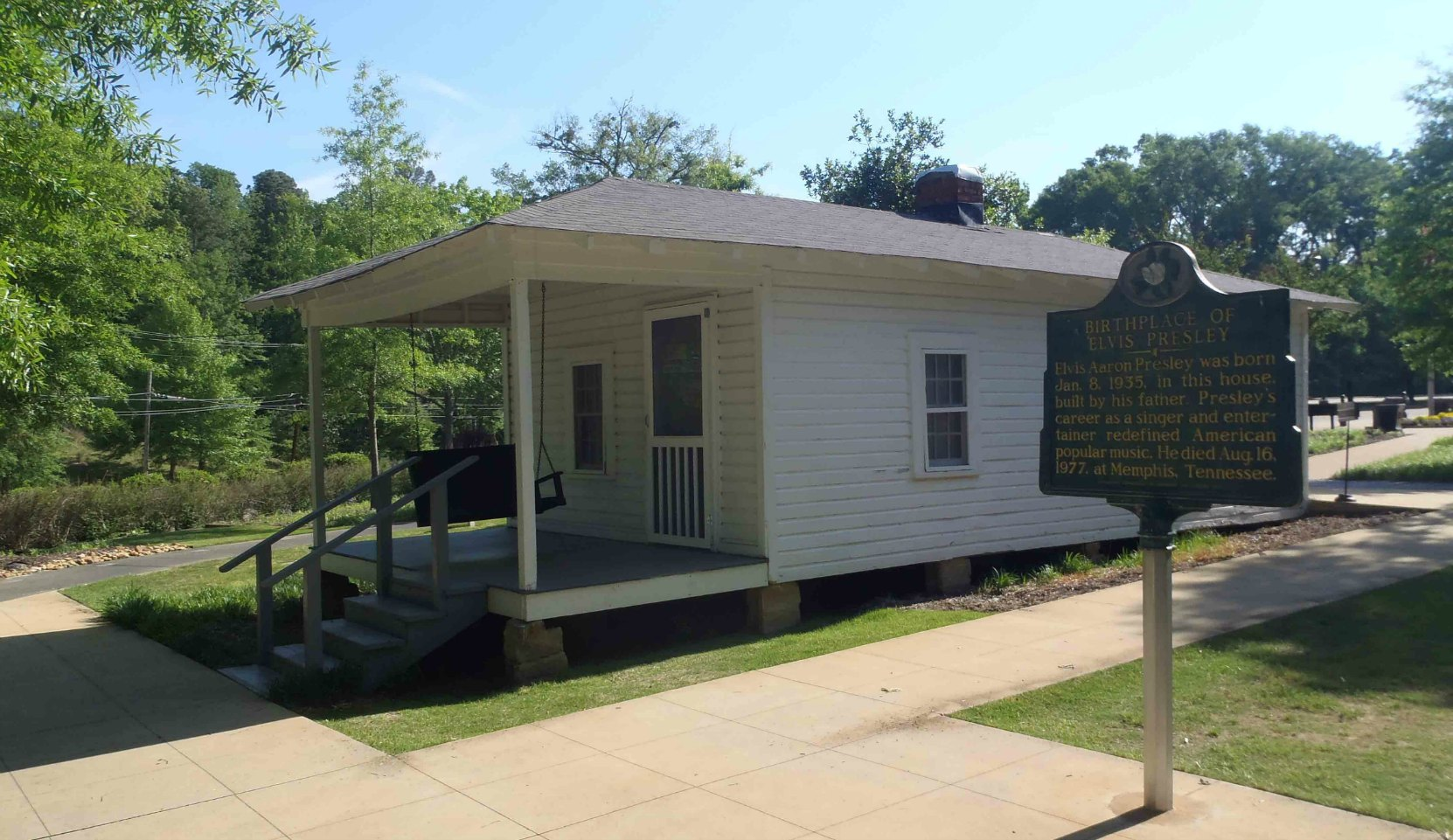 The house Elvis Presley was born in, Elvis Presley Birthplace Museum, Tupelo, Mississippi