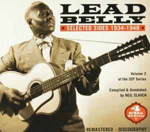 CD cover, Leadbelly-Selected Sides 1934-1948. Volume 2 of 2 Leadbelly box sets released on JSP Records