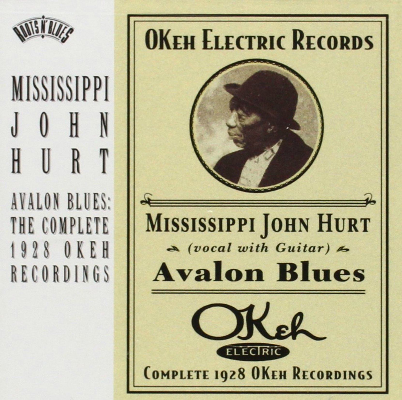 CD cover, Avalon Blues - The Complete 1928 Okeh Recordings, by Mississippi John Hurt