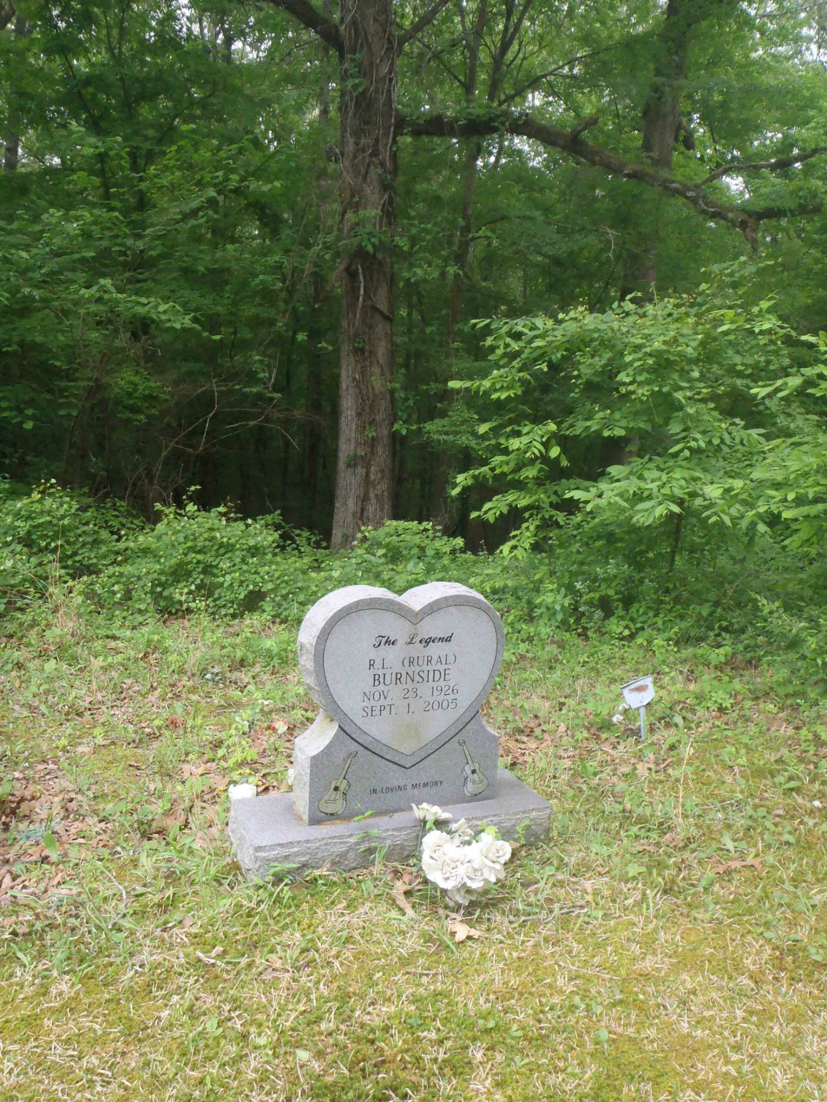 R.L. Burnside grave, Free Springs C.M.E. Church cemetery.