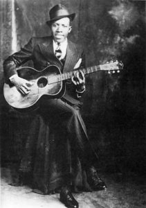 This photo of Robert Johnson was taken at Hooks Brothers Photography, 164 Beale Street, Memphis, Tennessee.