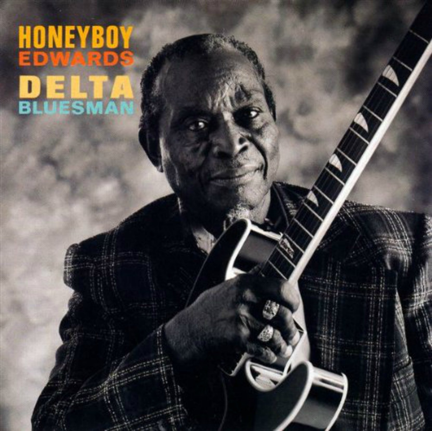 CD cover, Delta Bluesman by David Honeyboy Edwards. This CD contains the 1942 Alan Lomax recordings of Honeyboy Edwards