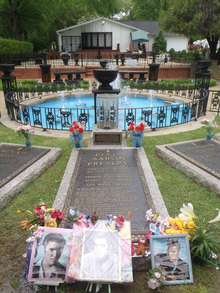 Elvis Presley's grave at Graceland, Memphis, Tennessee