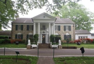 Elvis Presley's home at Graceland, Memphis, Tennessee