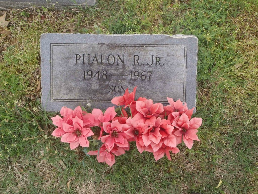 The grave of Phalon R. Jones Jr., New Park Cemetery, Memphis, Tennessee