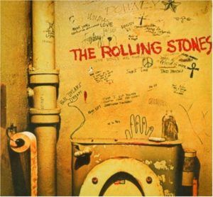 CD cover, Beggars Banquet, by the Rolling Stones, released in 1968