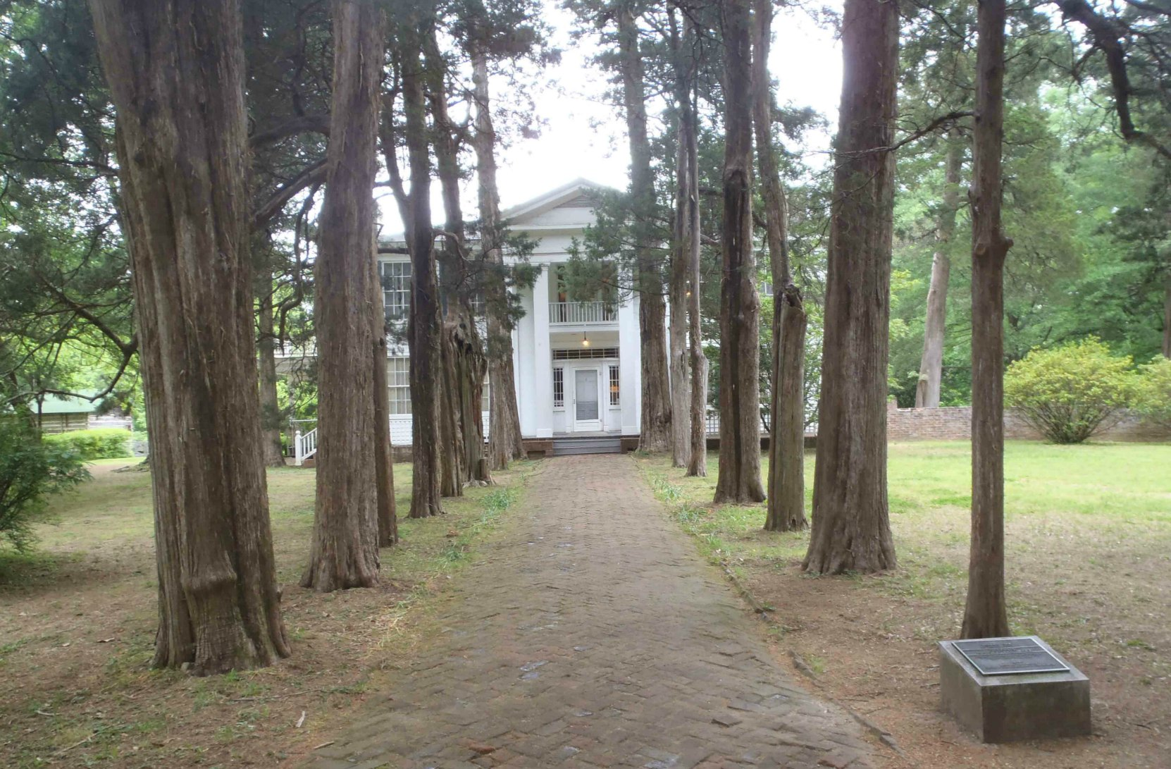 The entrance walkway to Rowan Oak, William Faulkner's home from 1930 until his death in 1962.