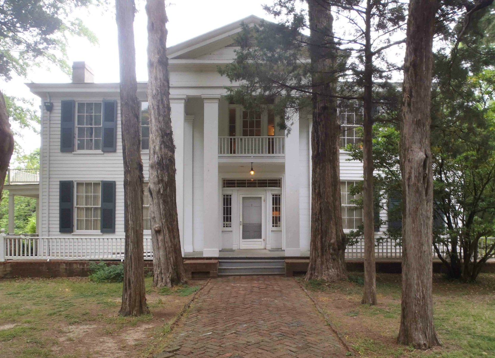 The entrance to Rowan Oak, William Faulkner's home from 1930 until his death in 1962.