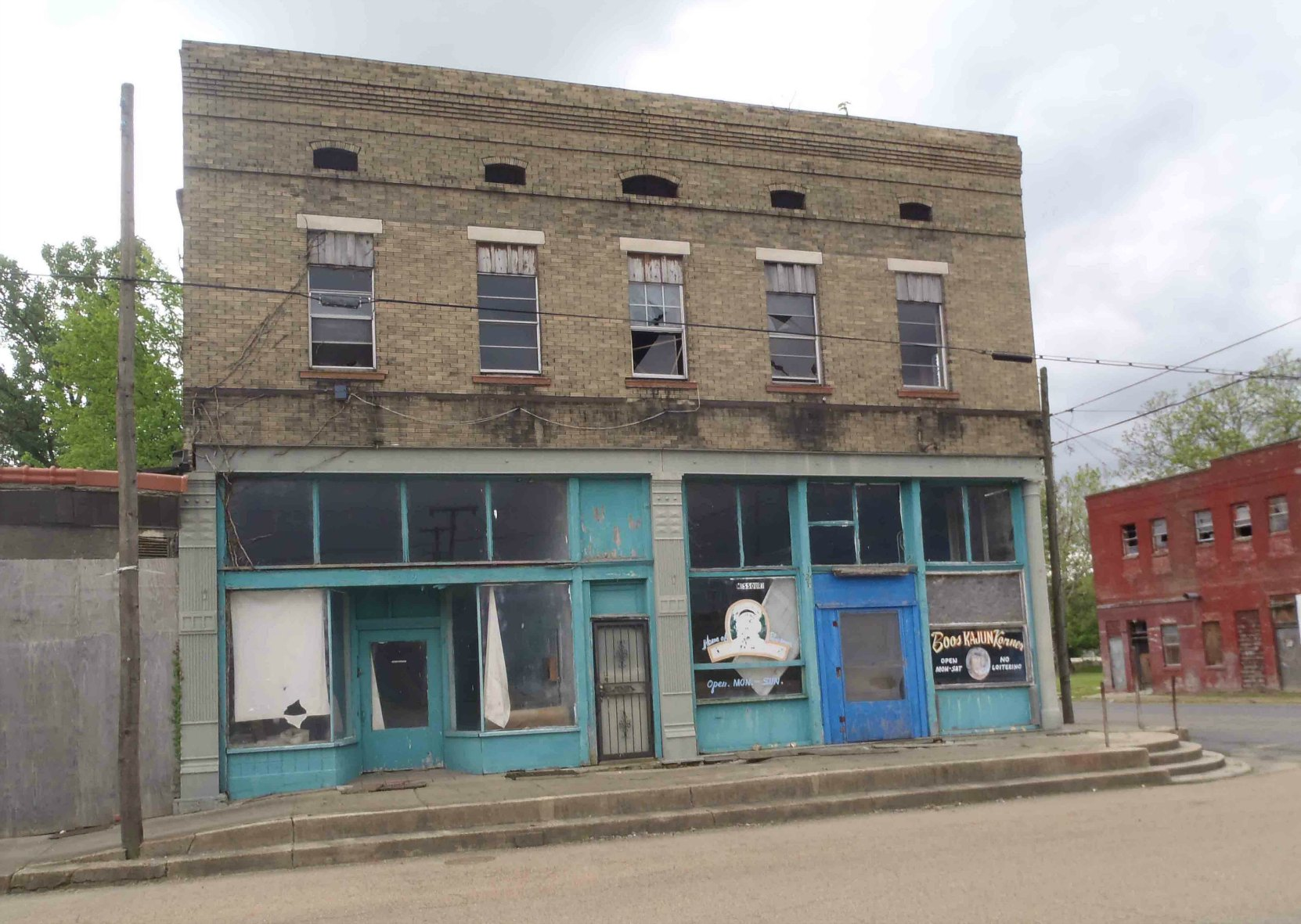 119 Missouri Street in downtown Helena, Arkansas. This building once contained the Kit Kat Club where bluesmen like Robert Johnson played.