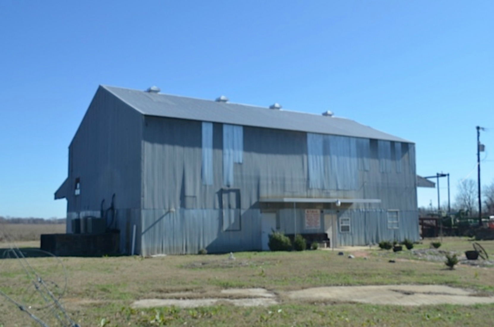 Glendora Gin building, now the site of the Emmett Till Historic Intrepid Centre, near the site of the former house of J.W. Milam, one of the two men who murdered Emmett Till in August 1955, Glendora, Mississippi (courtesy of Keith Petersen)