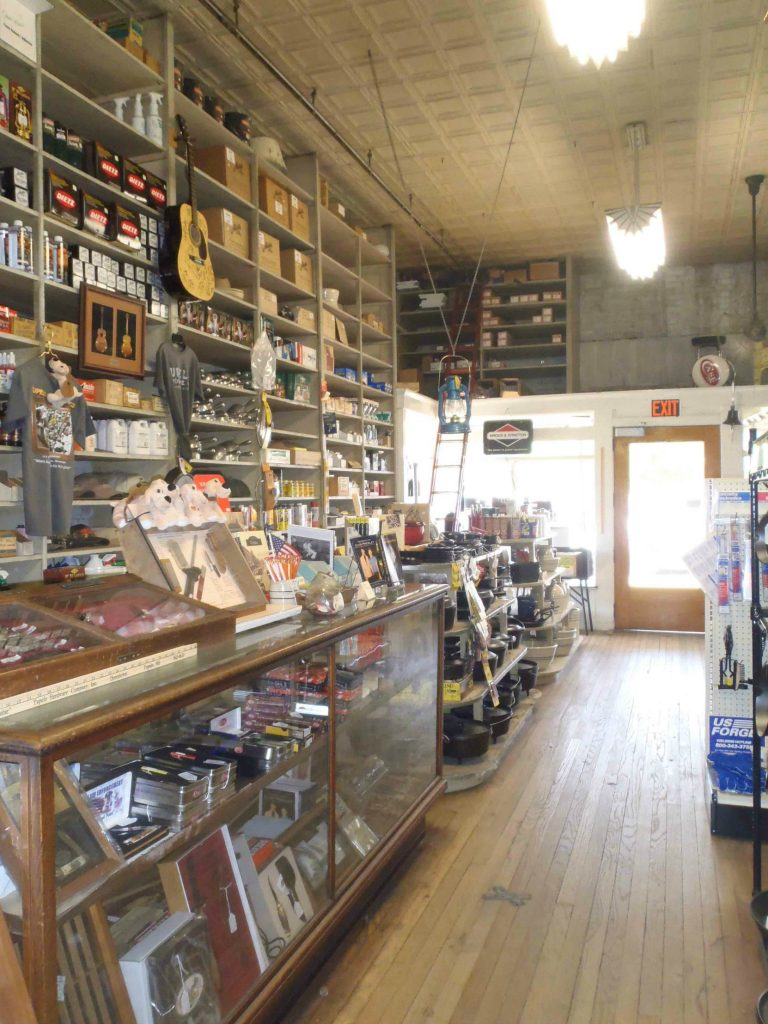 The Tupelo Hardware Company sales counter where Elvis Presley bought his first guitar.