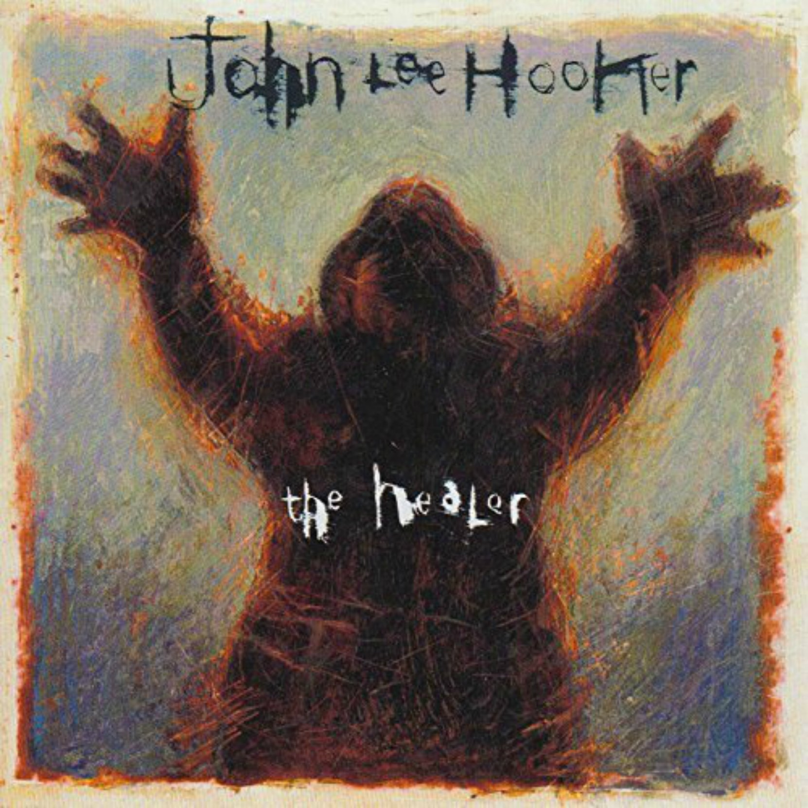 CD cover, John Lee Hooker, The Healer, released in 1989