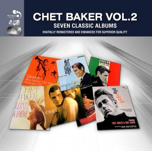 CD cover, Chet Baker Volume 2, Seven Classic Albums, a 4 CD set released on the Real Gone Music Company label.