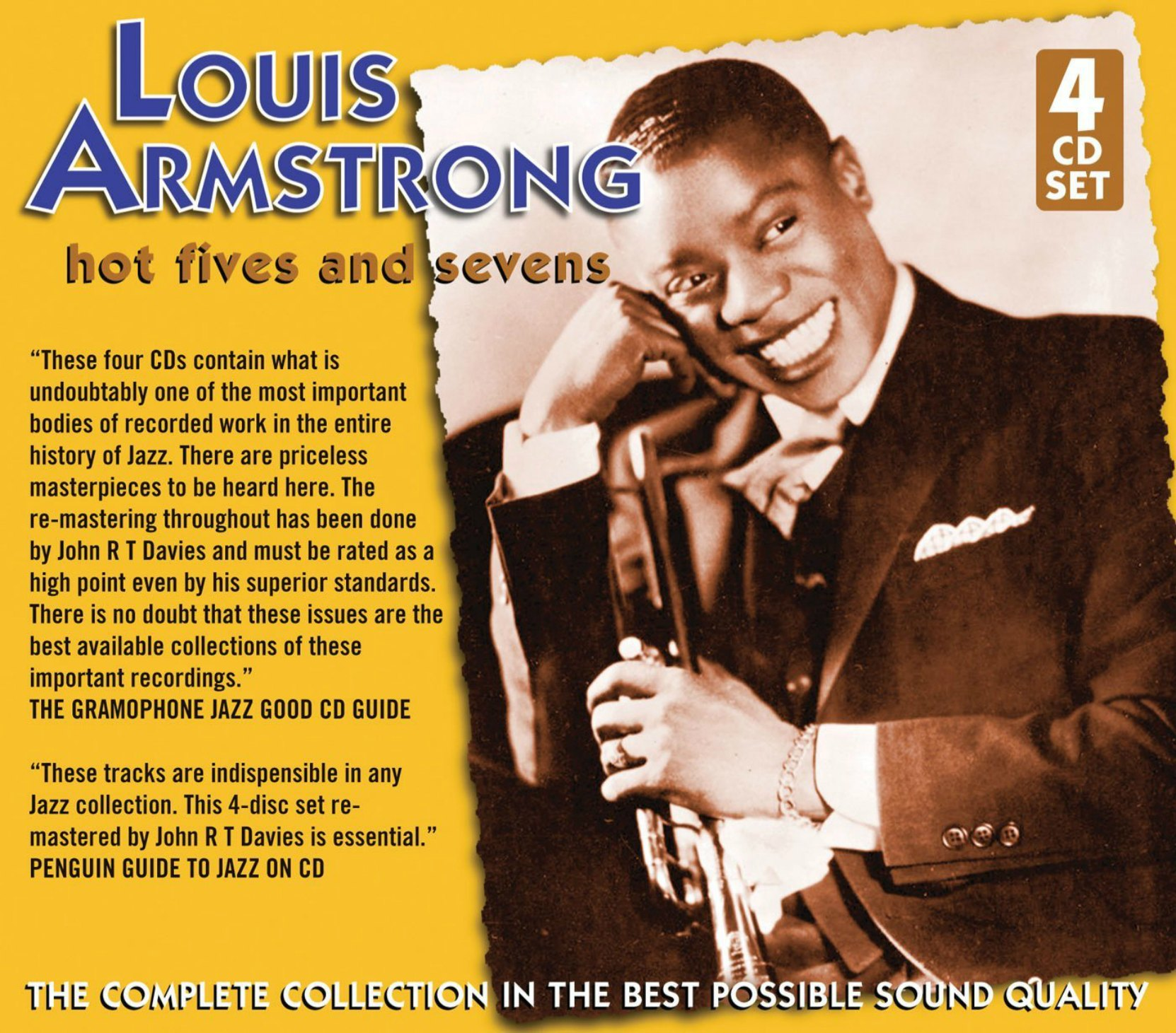 Album cover, Louis Armstrong, Hot Fives and Hot Sevens, released on JSP Records