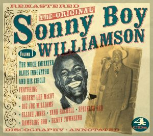 CD cover,The Original Sonny Boy Williamson, Volume 1, a 4 CD set released on JSP Records