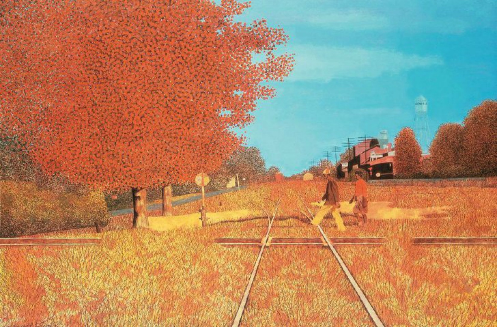 "Carroll Cloar painting ""Where the Southern Crosses The Dog"" in Ruleville, Mississippi."