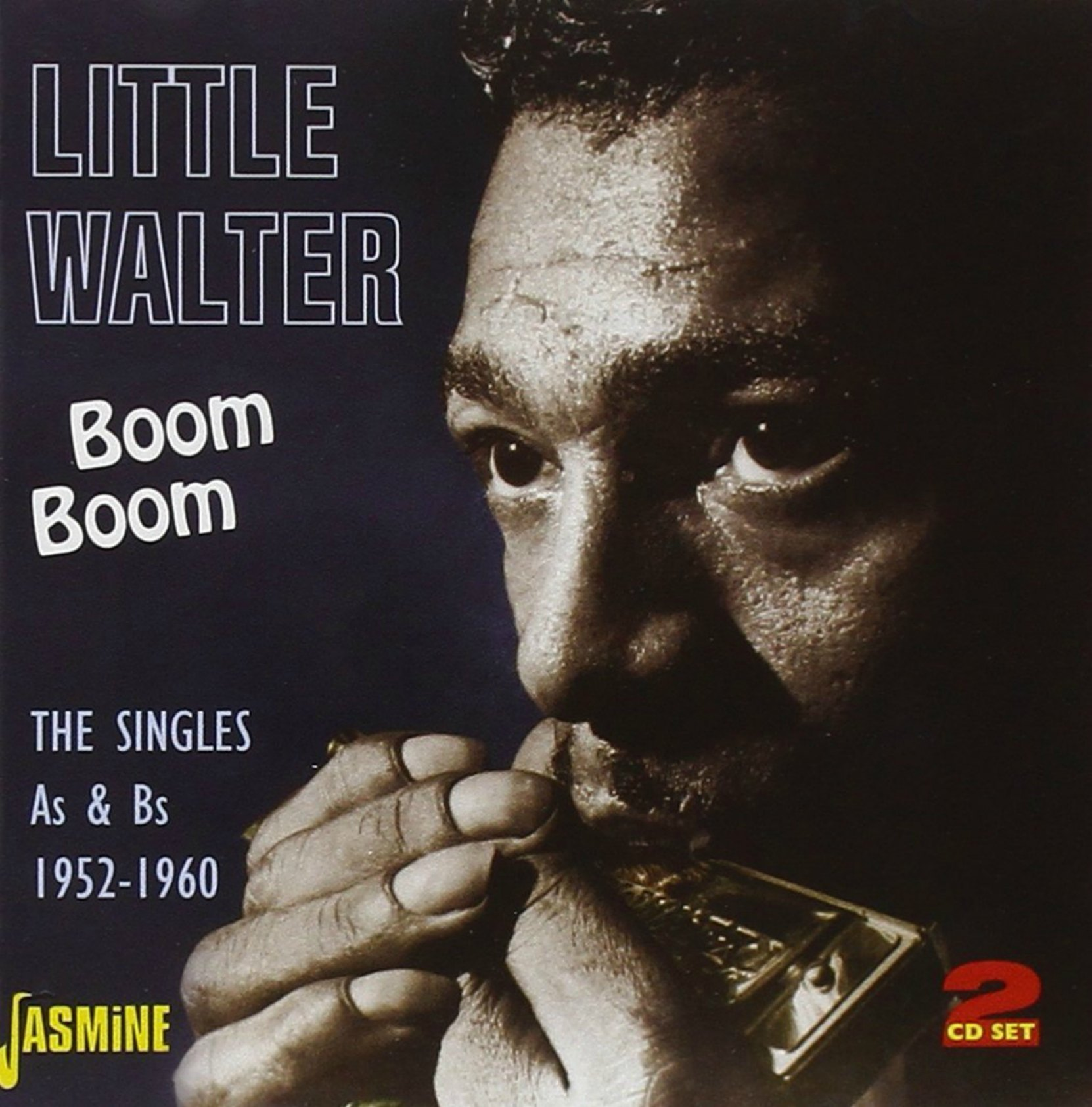 CD cover, Little Walter - Boom Boom: The Singles As & Bs 1952-1960, on Jasmine Records.