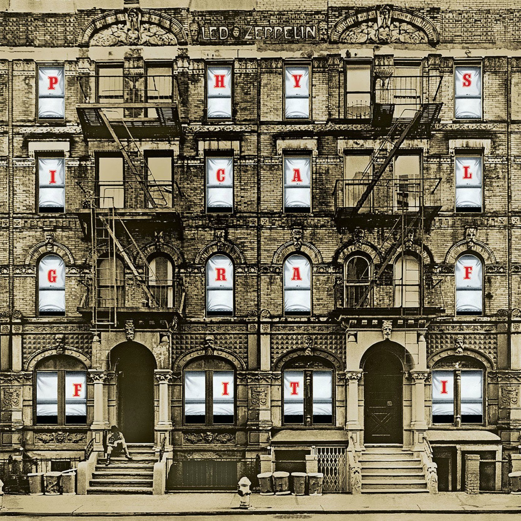 Album cover - Led Zeppelin, Physical Graffiti, released 1975