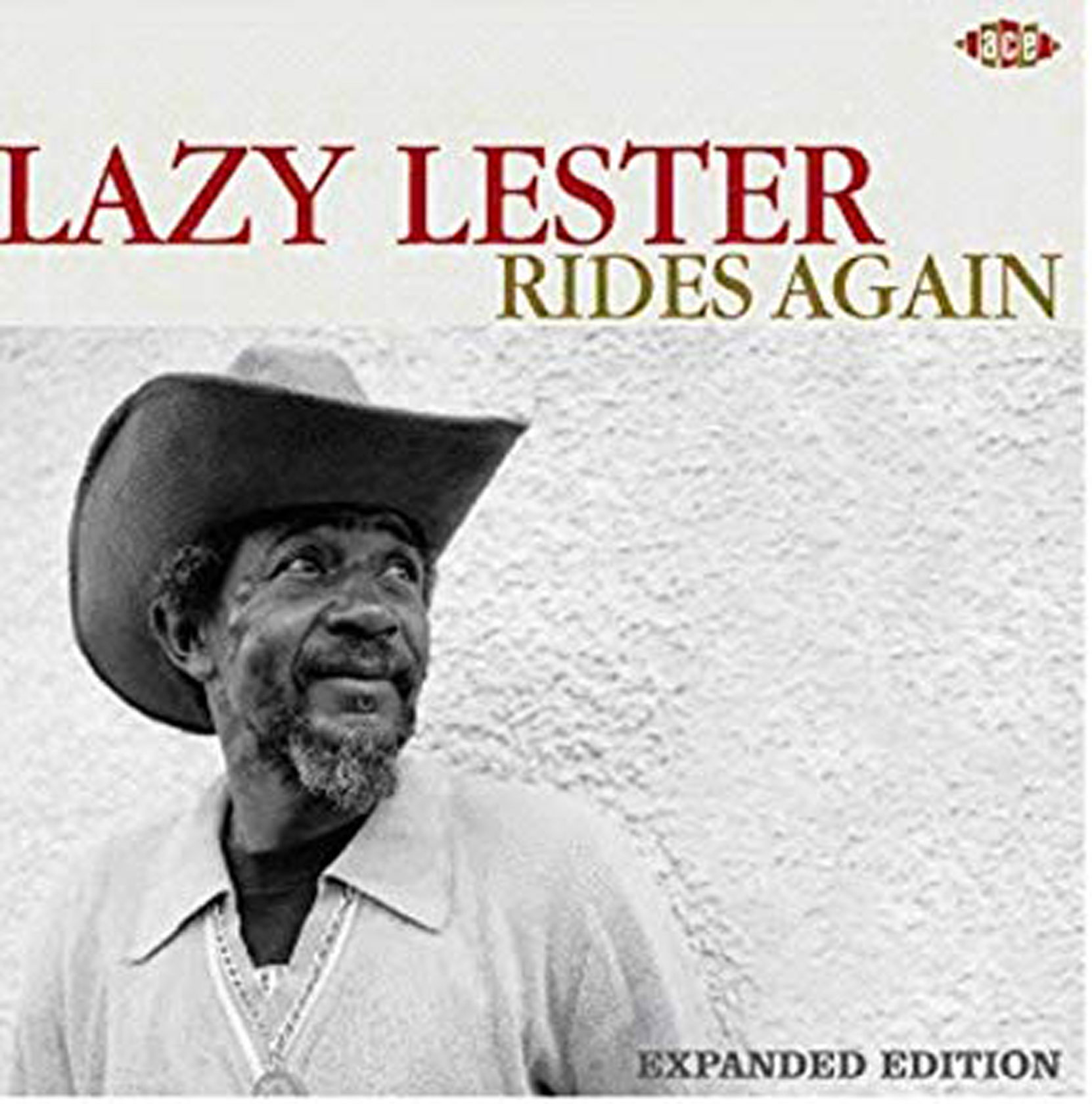 Lazy Lester - Laszy Lester Rides Again, Reissue of the original 1988 album (with bi=onus tracks) released on Ace Records. CD cover.