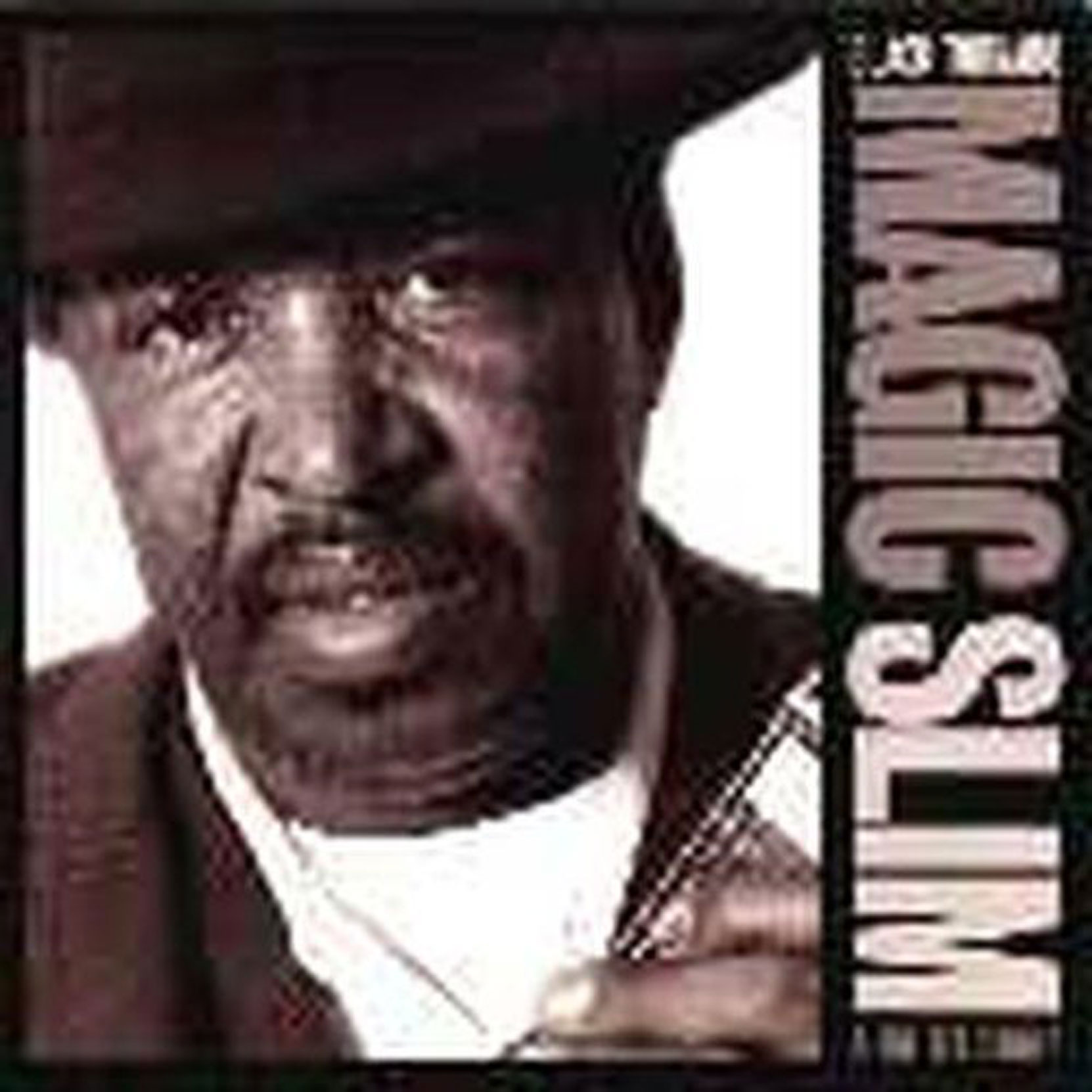CD cover, Magic Slim, Black Tornado, released in 1998 on Blind Pig Records