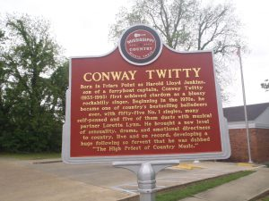 Mississippi Country Music Trail marker for Conway Twitty, Friar's Point, Mississippi (photo: Mississippi Blues Travellers)