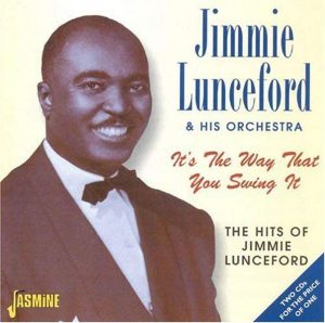 CD cover, Jimmie Lunceford and his Orchestra, It's The Way That You Swing It, a 2 CD set released on Jasmine Records